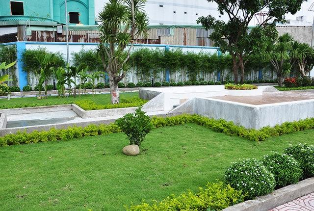 Công viên nội khu đã được hoàn thiện và đưa vào phục vụ cư dân