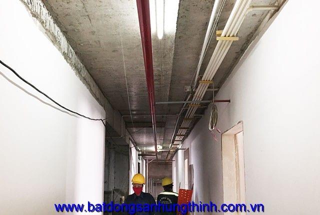 Công tác lắp đặt hệ thống PCCC từ tầng 6 đến tầng 25 block A; tầng 6 đến tầng 25 block B dự án Vũng Tàu Melody Hưng Thịnh