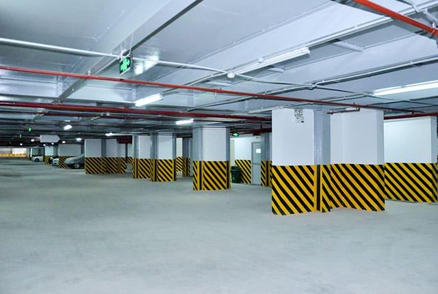 Hệ thống hầm giữ xe đã hoàn thiện và đưa vào sử dụng