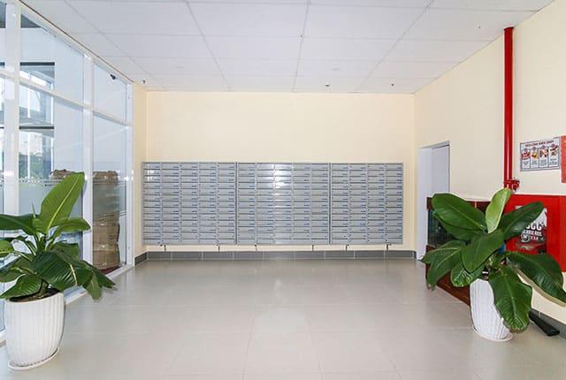 Khu vực thùng thư tập trung đã đưa vào phục vụ cư dân