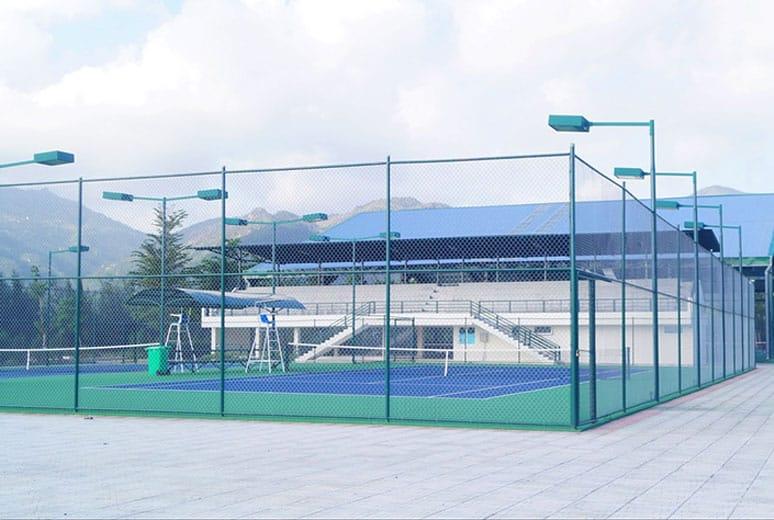 Sân tennis đã hoàn thiện