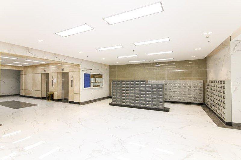 Khu vực thùng thư tập trung block B đã đưa vào phục vụ cư dân