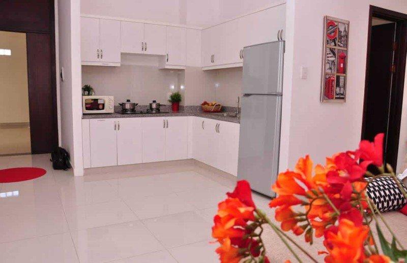 Căn hộ mẫu 8X Rainbow - phòng  bếp