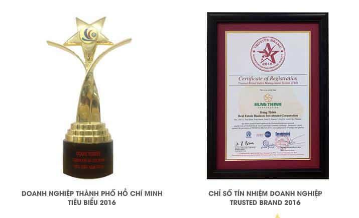 Giải thưởng bất động sản 2016 Hưng Thịnh Corp