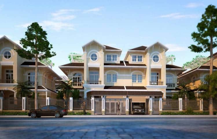 Mẫu biệt thự nhà phố trong dự án Golden Bay Hưng Thịnh