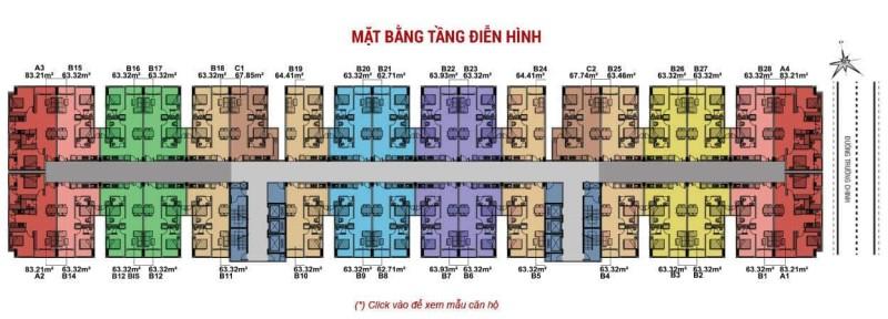 Mặt bằng căn hộ dự án 8X Plus