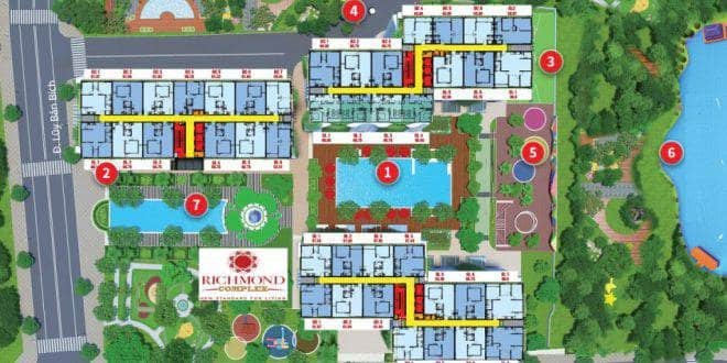 Mặt bằng tổng thể dự án Richmond Complex