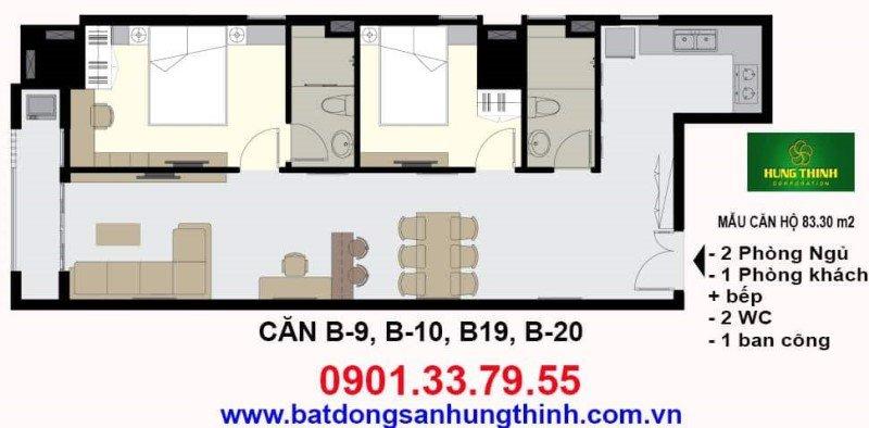 Thiết kế căn hộ Vũng Tàu Melody