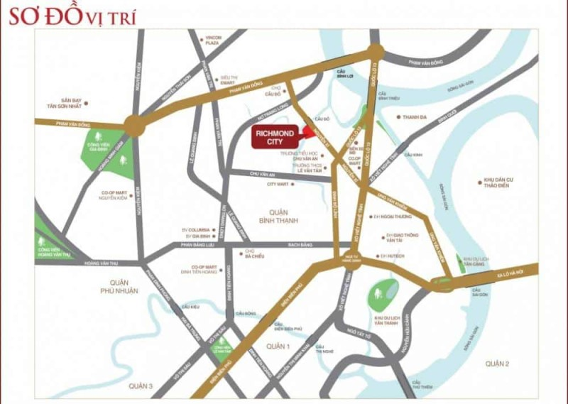 VỊ TRÍ TTTM RICHMOND CITY