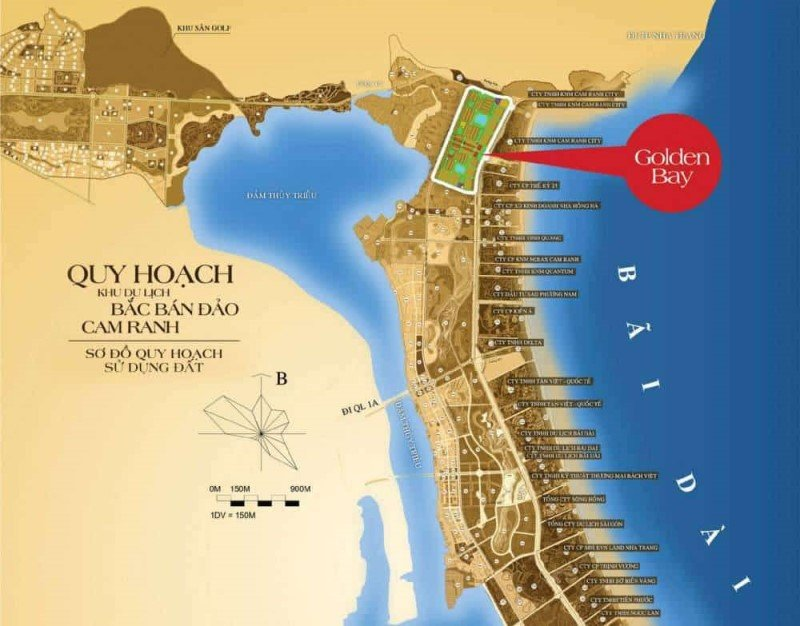 Vị trí khu đô thị Golden Bay City Cam Ranh