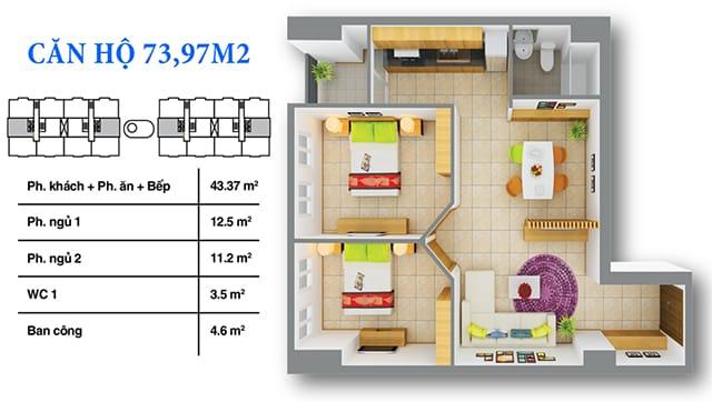 Chi tiết thiết kế căn hộ 12 View