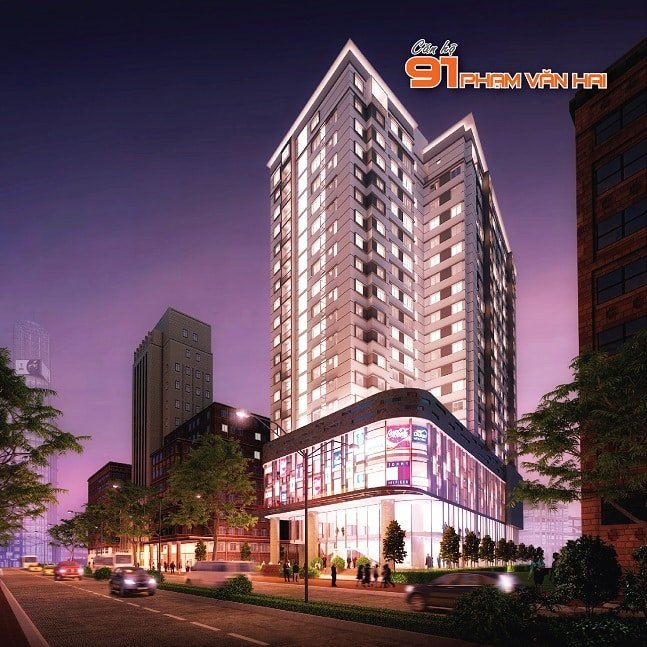Phối cảnh dự án 91 Phạm Văn Hai hay tên mới là Central Plaza