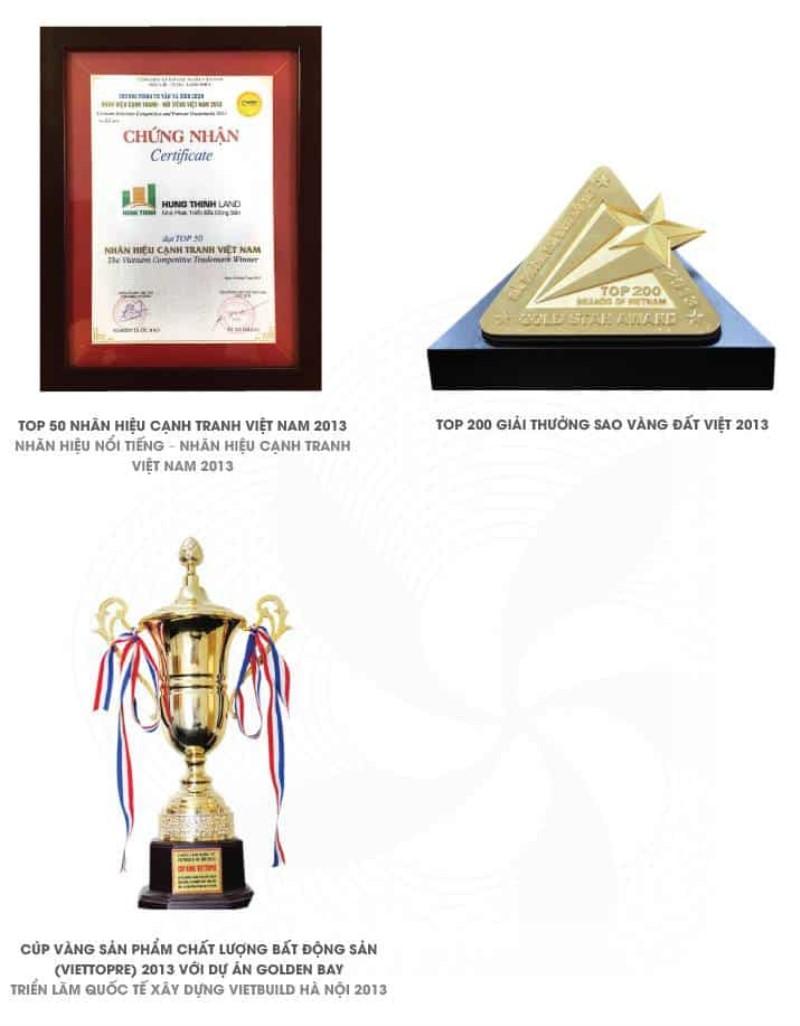 Các giải thưởng của hưng thịnh corp năm 2013