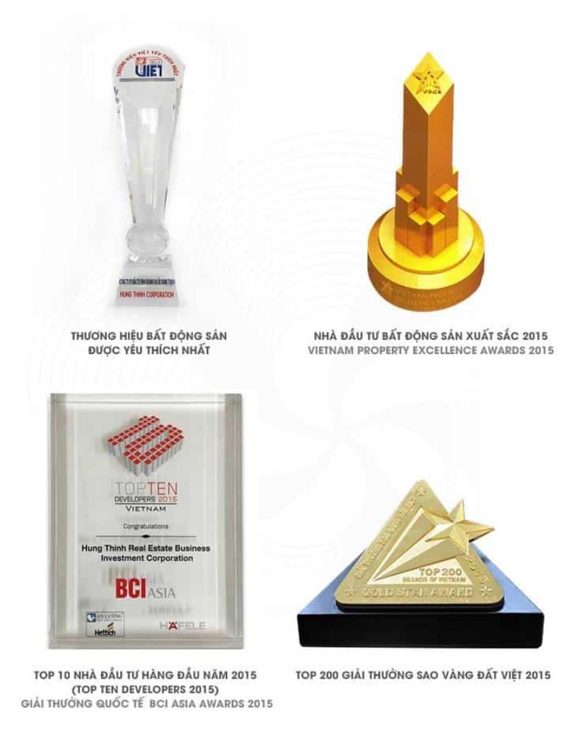 Giải thưởng năm 2015 Công ty Hưng Thịnh
