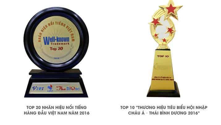 Giải thưởng 2016 Hưng Thịnh