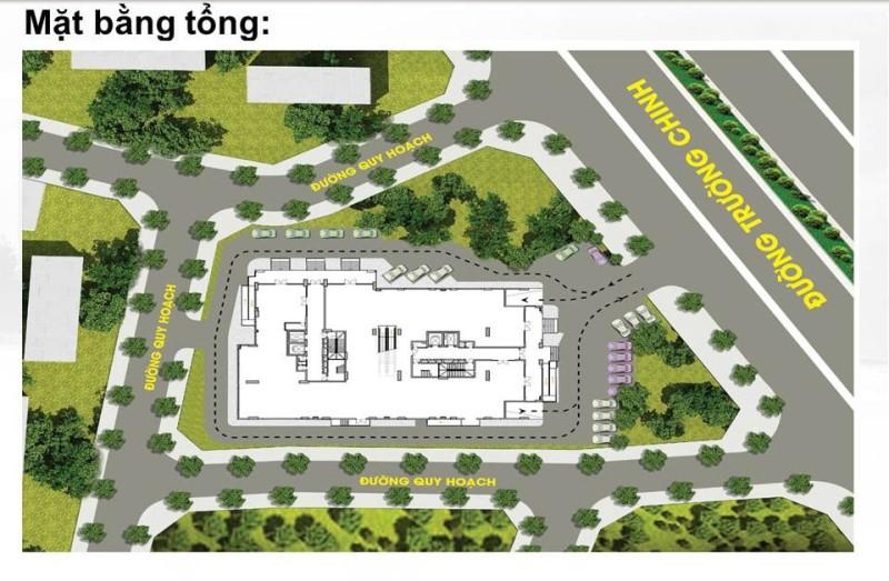 Mặt bằng tổng thể dự án căn hộ 27 Trường Chinh