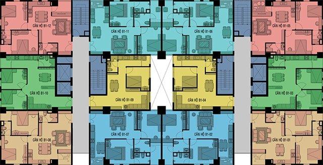 Mặt bằng tổng thể dự án 12 View