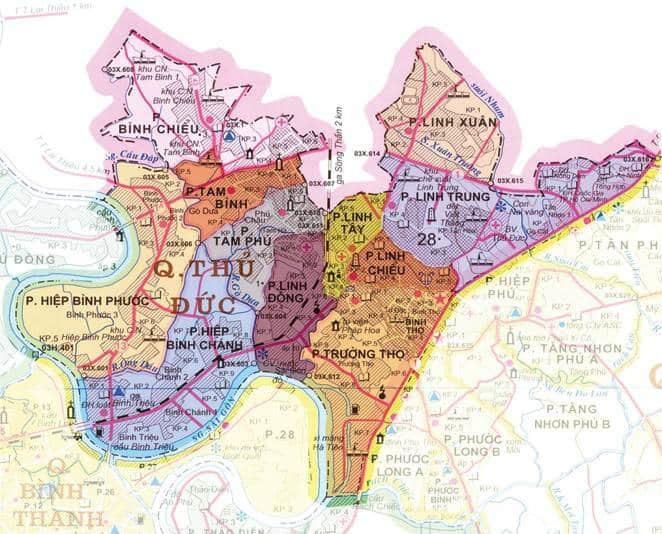 Bản đồ quận Thủ Đức