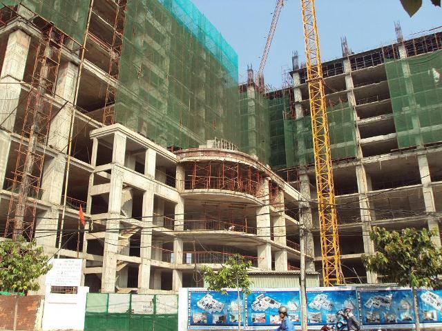 tiến độ xây dựng chung cư bàu sen