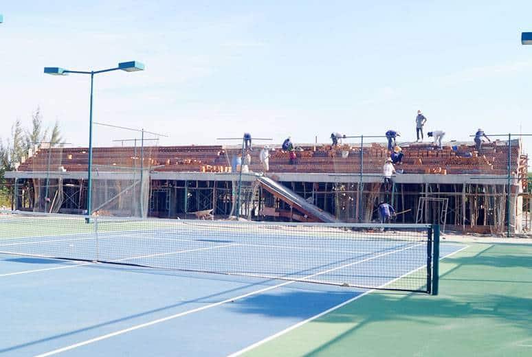 Công tác thi công khán đài sân tennis