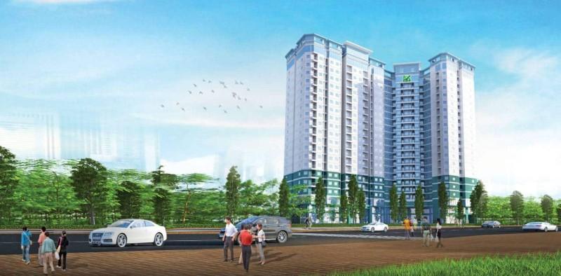 QUI MÔ DỰ ÁN 8X ĐẦM SEN Diện tích sàn xây dựng: 56.773m2 Diện tích khuôn viên: 6.188m2 Diện tích xây dựng: 2.494m2 Mật độ xây dựng: 40.3% Hệ số sử dụng đất: 7,4 Số Block: 1 Số tầng: 18 tầng Chiều cao xây dựng: 75m Số căn hộ: 594 căn