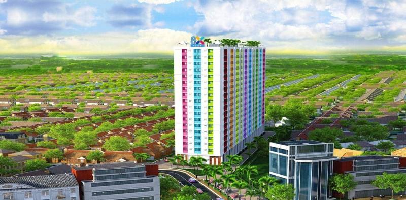 QUY MÔ DỰ ÁN 8X PLUS: Diện tích khu đất: 7.059,0 m2 Diện tích xây dựng: 2.817,0 m2 Mật độ xây dựng: 40% Tầng cao: 19 tầng (2 tầng thương mại và 17 tầng căn hộ) Số căn hộ: 551 căn