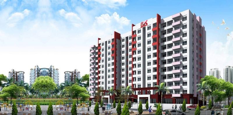 Quy mô dự án 8X THÁI AN: Diện tích khuôn viên: 3,606 m² Diện tích xây dựng : 1,380 m² Mật độ xây dựng : 38% Hệ số sử dụng đất : 4.66 Số tầng : 11 tầng Số căn hộ : 200 căn