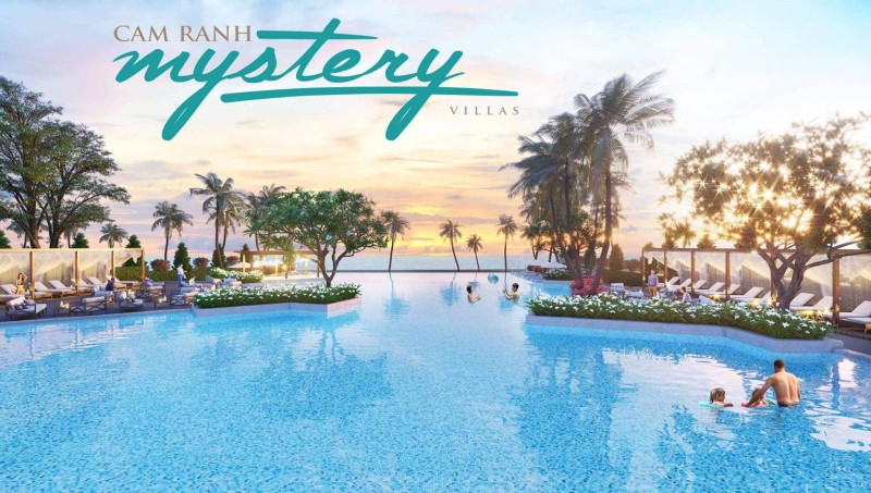 Hồ bơi nước mặn rộng 1.200 m2 tại Cam Ranh Mystery Villas