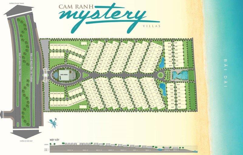 Mặt bằng phân lô Cam Ranh Mystery Villas