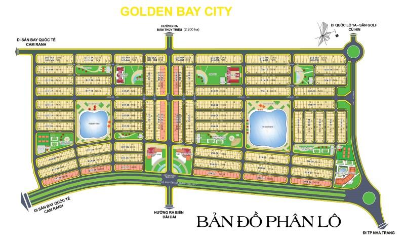 Mặt bằng phân lô đất nền khu đô thị Golden Bay City