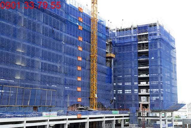 Thi công cốt thép sàn tầng 13 Block A 9 View Apartment