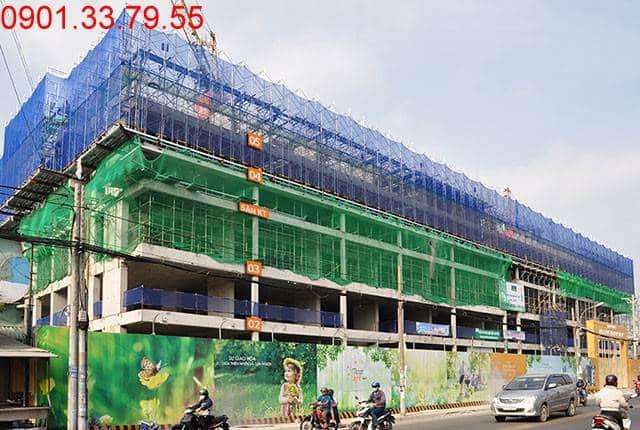 Hoàn thành đổ bê tông sàn tầng 5 và thi công cột sàn tầng 6 block A, B dự án Monlight Park View
