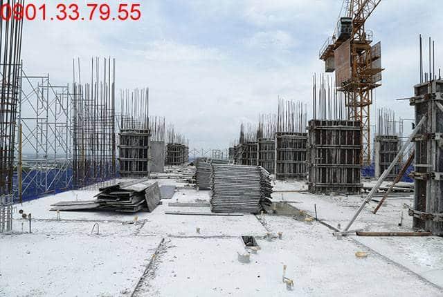 Thi công cột sàn tầng 15 Block C dự án 9 View Apartment Hưng Thịnh