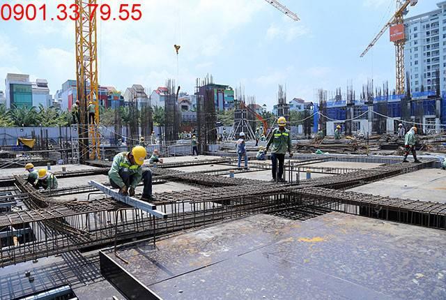 Thi công cốt thép sàn tầng 1 - block Northern Sài Gòn Mia Trung Sơn