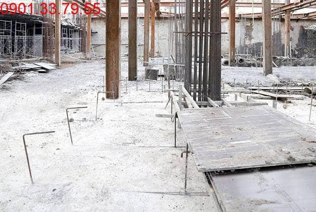 Thi công sàn tầng hầm 2 - block Central dự án Saigon Mia Hưng Thịnh