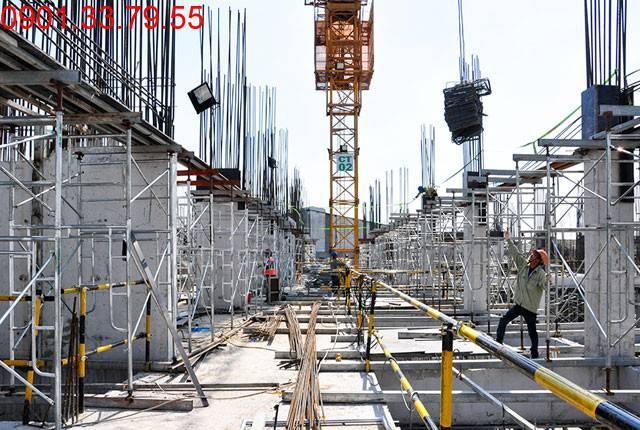 Thi công cốp pha sàn tầng 3 - Block C dự án 9 View Apartment Hưng Thịnh