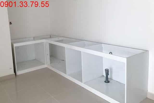 Công tác lắp đặt tủ bếp từ tầng 7 đến tầng 11 block A dự án Melody Vũng Tàu