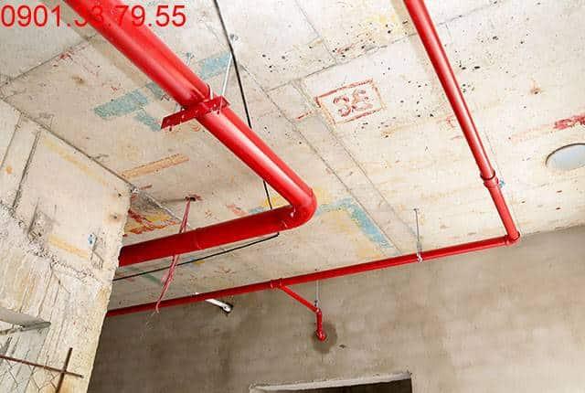 Thi công hệ thống PCCC từ tầng 3 đến tầng 18 - Block B Florita Đức Khải