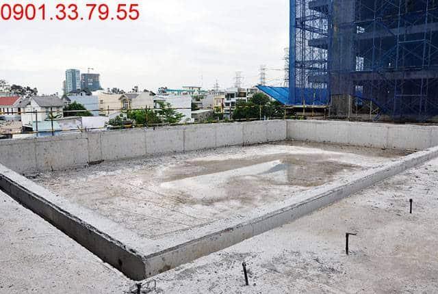 Hoàn thành xong phần thô hồ bơi căn hộ chung cư Lavita Garden Hưng Thịnh