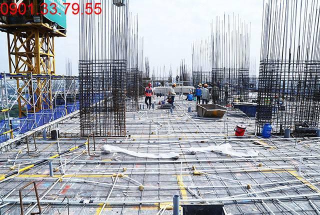 Thi công cốt thép sàn tầng 18 Block B căn hộ chung cư Lavita Garden Hưng Thịnh