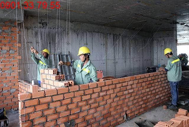 Xây tường bao căn hộ tầng 15 Block B căn hộ chung cư Lavita Garden Hưng Thịnh