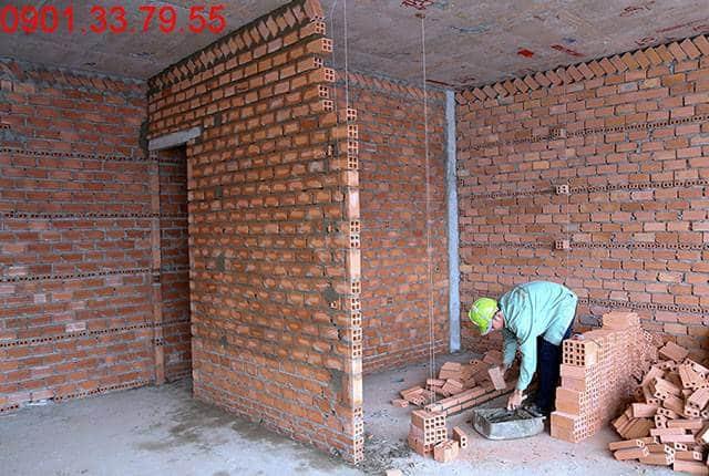 Thi công xây tường bao căn hộ đến tầng 18 - Block C dự án Florita Hưng Thịnh