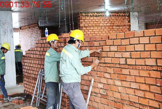 Xây tường bao căn hộ tầng 10 Block B dự án Lavita Garden Thủ Đức
