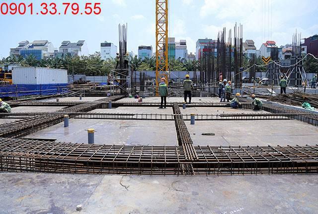 Thi công cốt thép sàn tầng 1 - block Northern dự án Sài Gòn Mia Trung Sơn