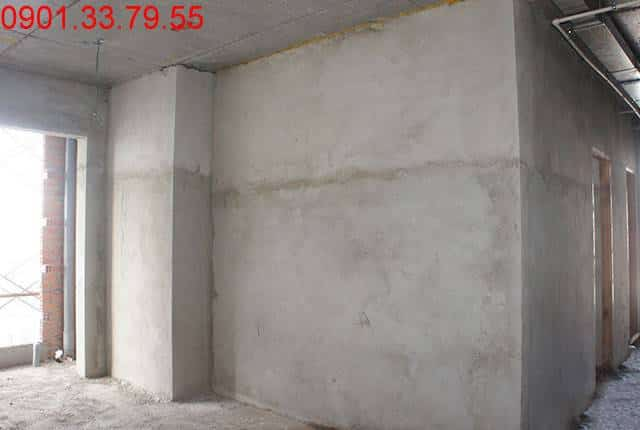 Tô tường căn hộ tầng 3 block C, D căn hộ chung cư Sky Center Tân Bình