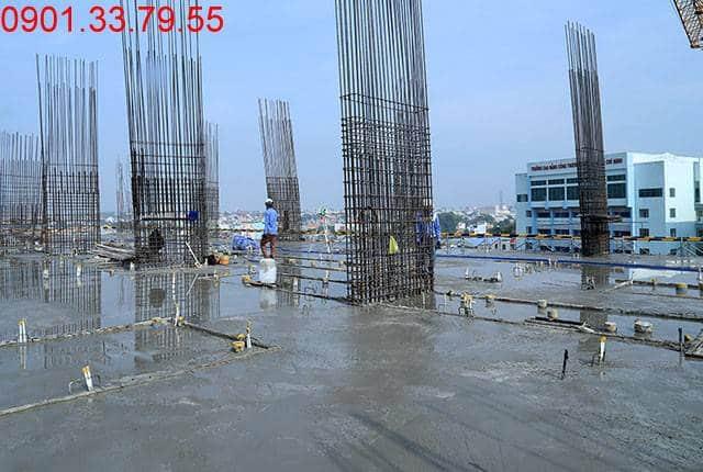 Đổ bê tông sàn tầng 6 Block C 9 View Apartment