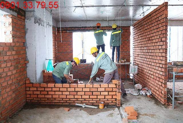 Xây tường bao căn hộ tầng 10 Block B dự án Lavita Garden Hưng Thịnh
