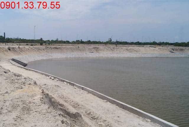 Thi công hồ cảnh quan khu D16 dự án đất nền khu đô thị Golden Bay City Cam Ranh
