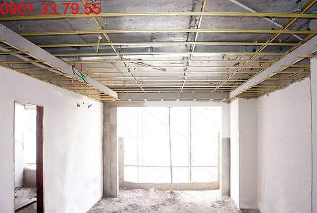 Đang hoàn thiện căn hộ mẫu căn hộ chung cư Sky Center Phổ Quang