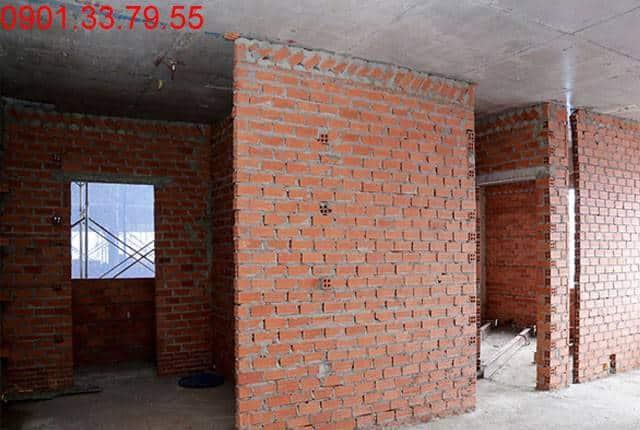 Xây tường bao căn hộ tầng 4 Block A, B, C dự án 9 View Apartment Hưng Thịnh